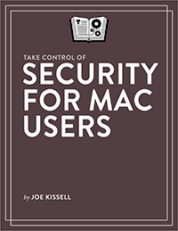 Take Control of Security for Mac Users cover